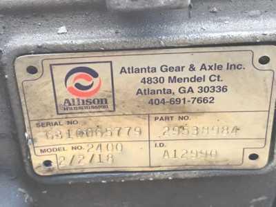 View ALLISON 2400 - Listing #1386321
