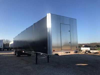 2022 BENSON [QTY: 2] 53X102 ALUMINUM FLATBED W AERO TARP Curtain Side Trailers